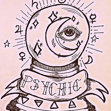 Psychic crystal ball Tattoo  by rrandj