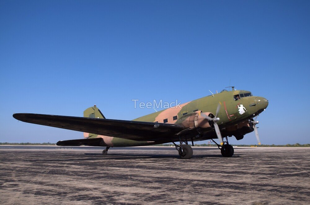 Douglas C-47 Military Airplane by TeeMack