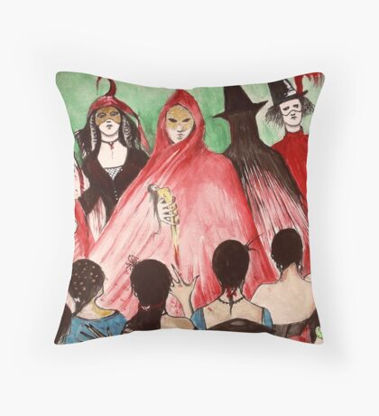 Masque Of The Red Death  Throw Pillow