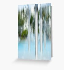 Water spouts on the lagoon Greeting Card
