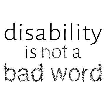 La discapacidad no es una mala palabra - Negro de amythests