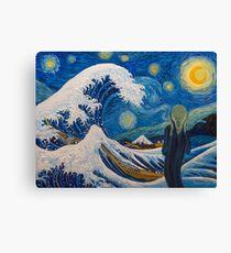 Hokusai, munch or van gogh? Canvas Print