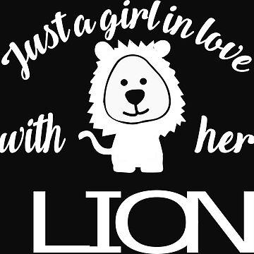 Girl loves lions by tarek25
