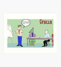 Stucco Corporation Art Print