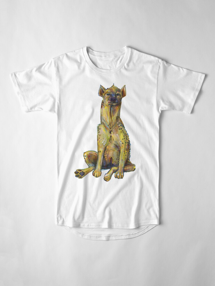 Alternate view of Spotted hyena painting - 2012 Long T-Shirt