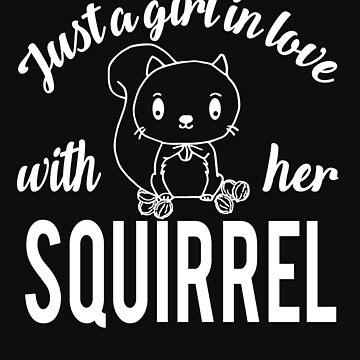 Girl loves squirrel by tarek25