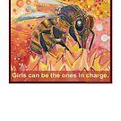 The real Amazons (Western honey bee) by Gwenn Seemel