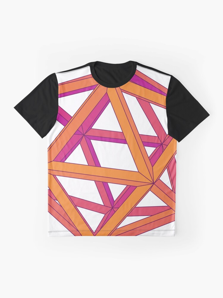 Alternate view of Icosahedron Graphic T-Shirt