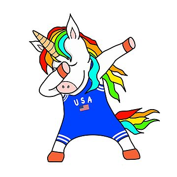 Funny Professional Wrestler Dabbing Unicorn by Mmastert