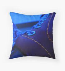 Bowlarama Blue Shoe. Throw Pillow