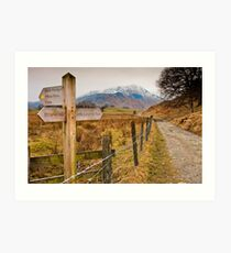 Which way to Little Langdale? Art Print