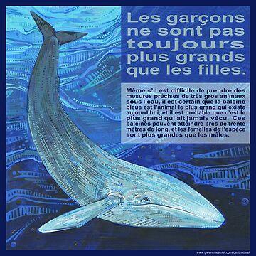 La grosse mère (La baleine bleue) by gwennpaints