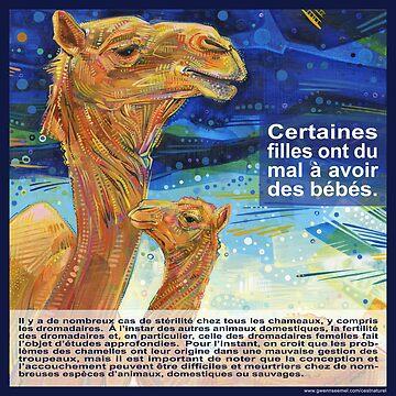 Il est plus facile pour une chamelle de passer par le chas d'une aiguille que pour une femme fertile de comprendre la stérilité (Le dromadaire) by gwennpaints