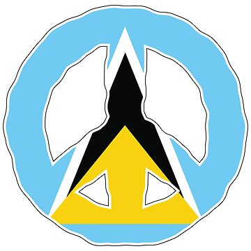 Peace Sign St Lucia National Flag by identiti