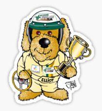 Elliot the Champion - White Sticker