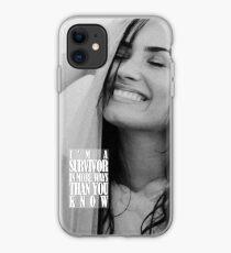 Demi Lovato's SURVIVOR SMILE iPhone Case