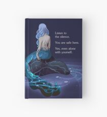 """Listen to the Silence"" Mermaid Hardcover Journal"