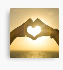 Love and Heart Canvas Print