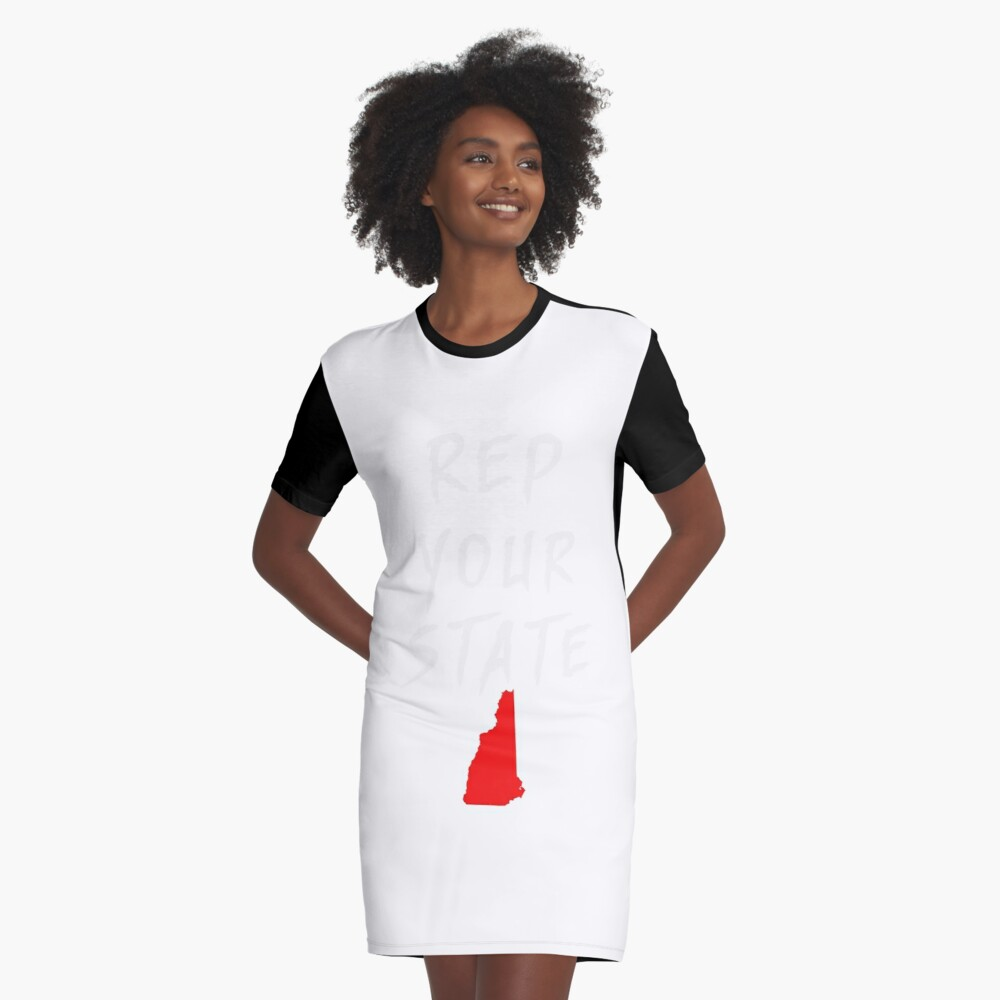 REP YOUR STATE NEW HAMPSHIRE Graphic T-Shirt Dress