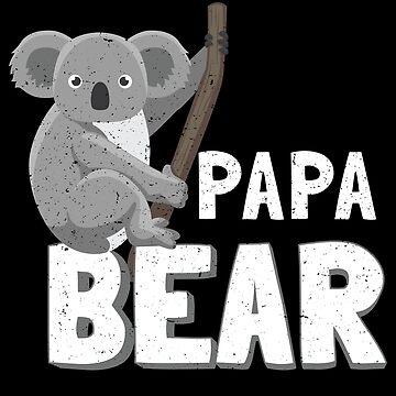 Koala Papa Bear Vegan Father's Day Shirts and Gifts Matching Family by everydayjane