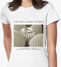 Fractal Math - Energy Generator Women's Fitted T-Shirt