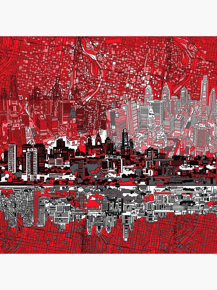 Philadelphia-Skyline 3 von BekimART