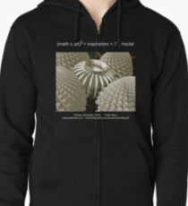 Fractal Math - Energy Generator Dark Zipped Hoodie