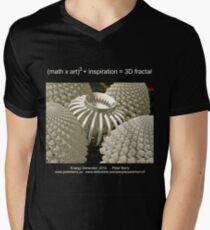 Fractal Math - Energy Generator Dark Men's V-Neck T-Shirt