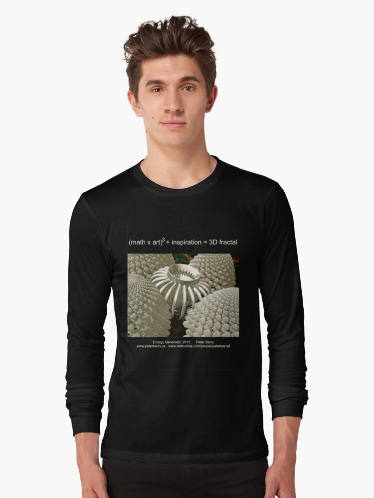 Fractal Math - Energy Generator Dark Long Sleeve T-Shirt Front