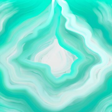 AGATE BLUE GREEN AND WHITE by Overthetopsm