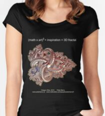 Fractal Math - Dragon Ship Dark Women's Fitted Scoop T-Shirt