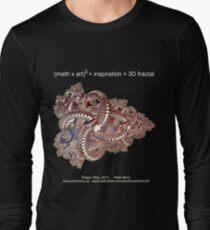 Fractal Math - Dragon Ship Dark Long Sleeve T-Shirt