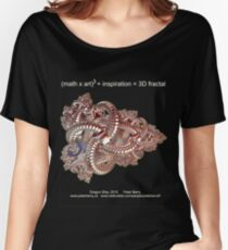 Fractal Math - Dragon Ship Dark Women's Relaxed Fit T-Shirt