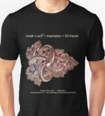 Fractal Math - Dragon Ship Dark Unisex T-Shirt