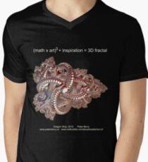 Fractal Math - Dragon Ship Dark Men's V-Neck T-Shirt