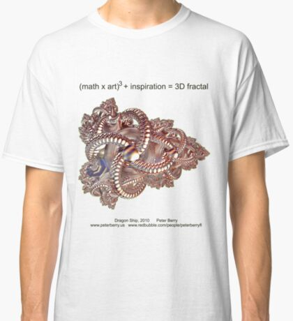 Fractal Math - Dragon Ship Classic T-Shirt