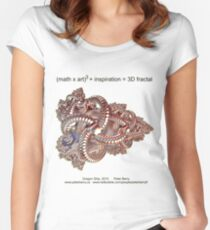 Fractal Math - Dragon Ship Women's Fitted Scoop T-Shirt