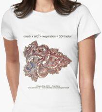 Fractal Math - Dragon Ship Women's Fitted T-Shirt