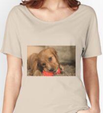 Golden Cocker Spaniel Puppy Women's Relaxed Fit T-Shirt