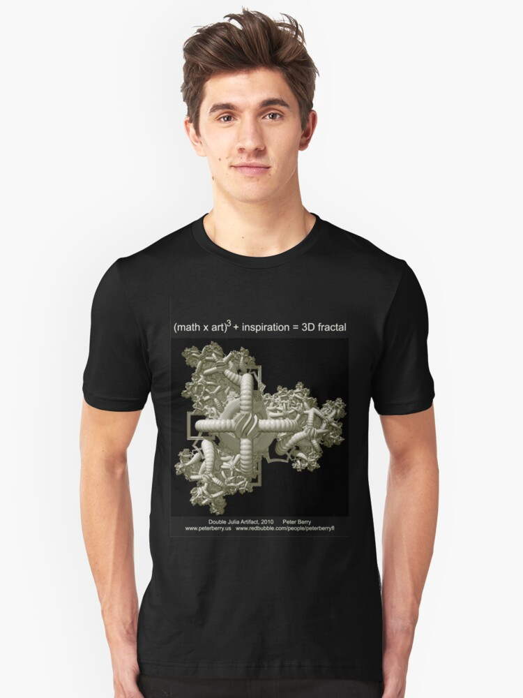 Double Julia Artifact - Dark Unisex T-Shirt Front