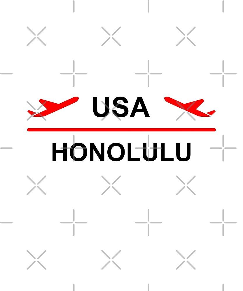 Honolulu Hawaii USA Airport Plane Light-Color by TinyStarAmerica