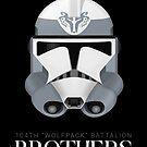 """104th """"Wolfpack"""" Battalion Clone Troopers - Brothers by nothinguntried"""
