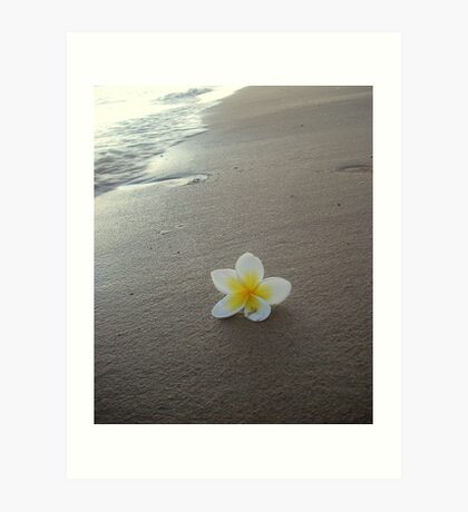 Beach Line Art Print