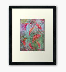 Salmon Journey Framed Print