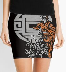 Prowling Tiger Mini Skirt