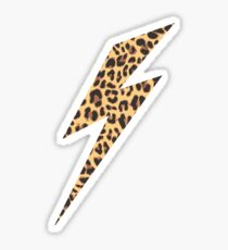 Wild Thing Leopard Lightning Bolt Sticker