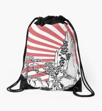 Japanese Landscape T Drawstring Bag