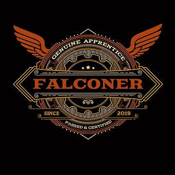 Congratulations! 2019 Apprentice Falconer's New Design Apparel and Gifts - 2019 Falconry Apprentice by manbird