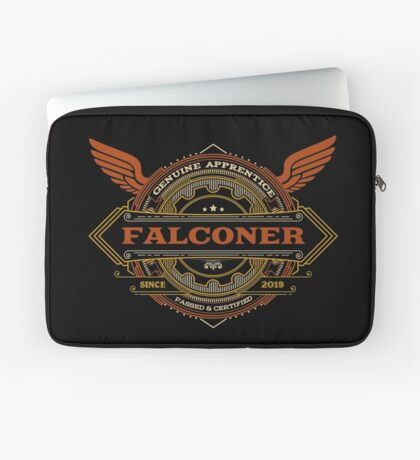 Congratulations! 2019 Apprentice Falconer's New Design Apparel and Gifts - 2019 Falconry Apprentice Laptop Sleeve