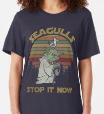 Seagulls stop it now Slim Fit T-Shirt